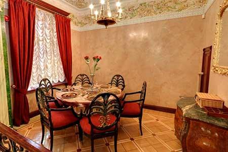 Restoran molekulyarnoy kukhni Mezonin v gastronome Kuptsov Eliseevykh
